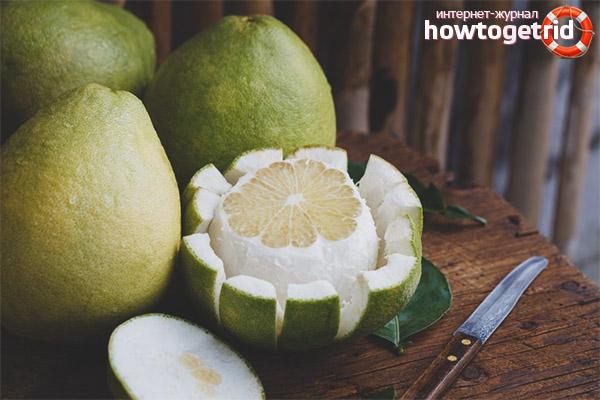 Свойства фрукта помело