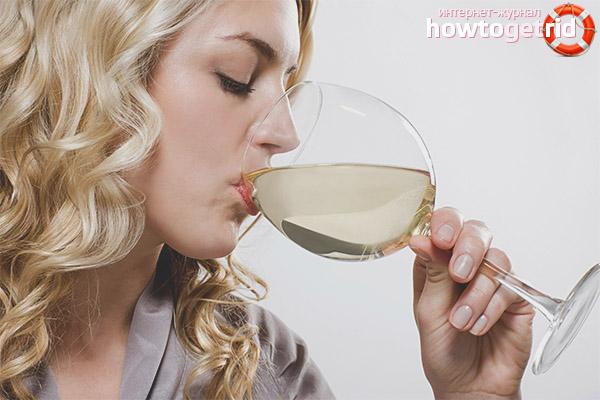 Влияние белого сухого вина на женщин