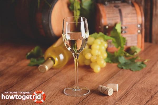 Воздействие белого вина на организм