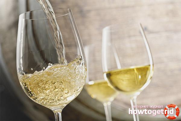 Вред белого сухого вина