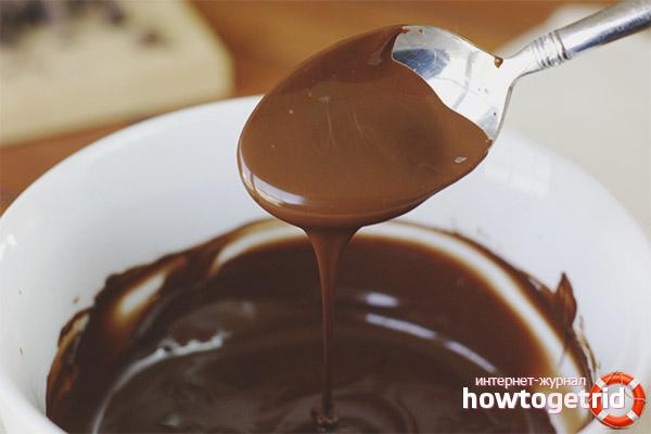 Домашний черный шоколад
