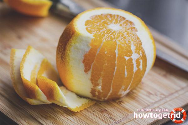 Как быстро и без брызг почистить апельсин
