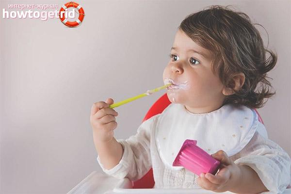 Особенности введения йогурта в рацион детей