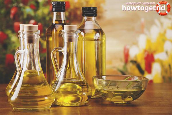 Сравнение растительного и подсолнечного масла