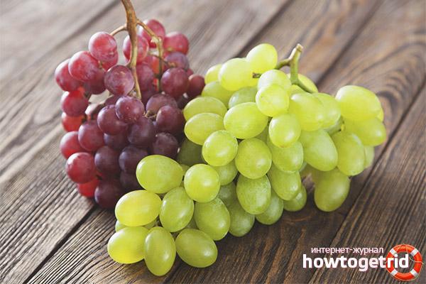 Выбор винограда для снижения веса