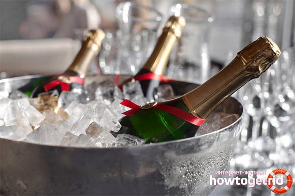 Что не стоит подавать к шампанскому