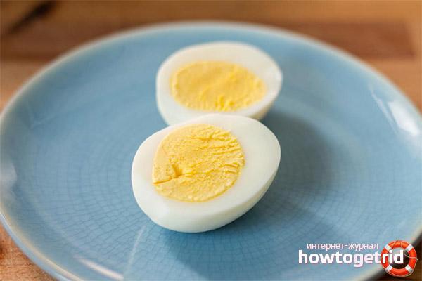 Вареные яйца при похудении: польза и применение
