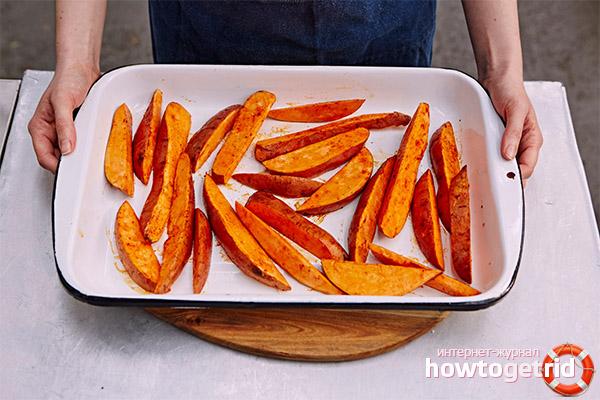 Как запечь батат в духовке: 3 рецепта