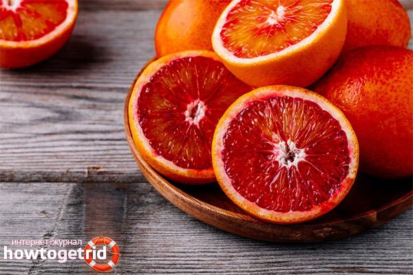 Красные апельсины в косметологии