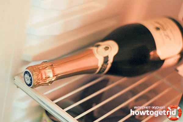 Рекомендации по хранению шампанского