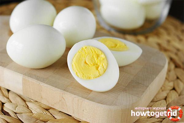 Вареные яйца при похудении
