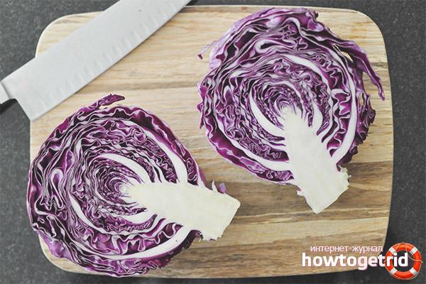 Польза краснокочанной капусты при диетическом питании
