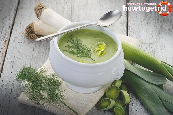 Суп из лука порея: рецепты приготовления