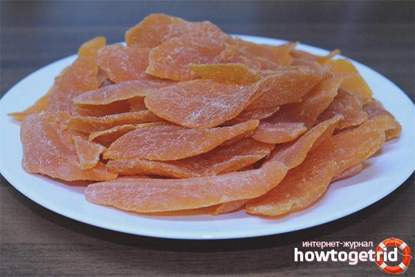 Противопоказания сушеного манго