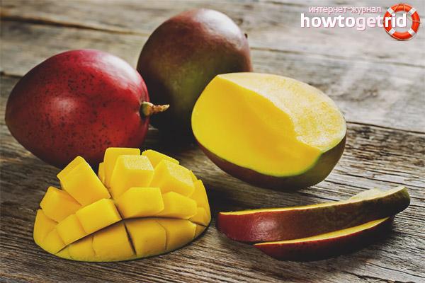 Выбор манго при покупке