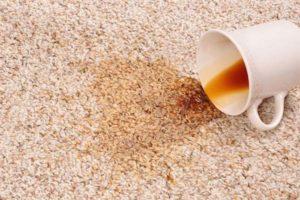 Чем отмыть чай или кофе с ковра